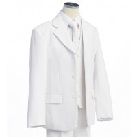 Boy's White 5 Piece communion Suit