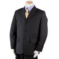 Boy's Navy 3 Piece Wedding Suit