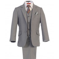 Boy's 3 Piece Grey Graduation Suit
