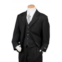 Boy's 3 Piece Armani Graduation Suit Black Husky
