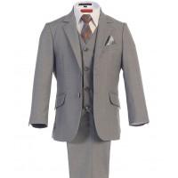 Boy's Grey Wedding Suit 3 Piece