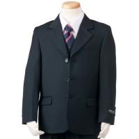Boy's 3 Piece Navy Husky Suit