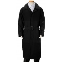 Boy's Black Suede Trench Coat