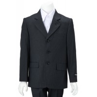 Boy's Striped 2 Piece Slim Suit