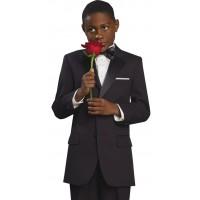 Boy's 2 Piece Black Tuxedo