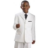 Boy's 2 Piece White Tuxedo