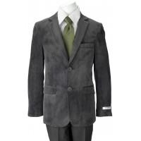 Boy's Gray Velvet Blazers