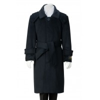 Boy's Navy Blue Wool Dress Coat