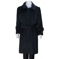 Boy's Charcoal Gray Wool Dress Coat