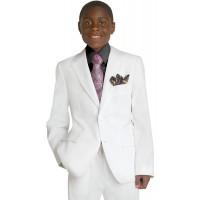 Boy's White 2 Piece Husky Suit