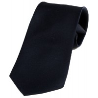 Boy's Solid Navy Clip On Tie 14""