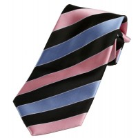 Boy's Pink Striped Clip On Tie 14""