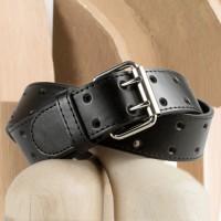 Boy's Black Leather Belt