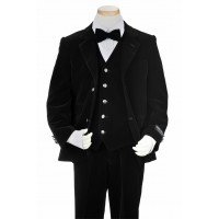 Toddler/Boy Black Velvet Suit