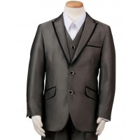 Boy's 3 Piece Grey Suit
